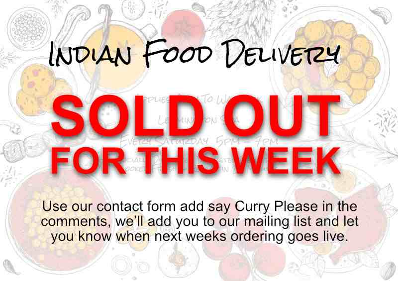 Indian Food Delivery Sold Out